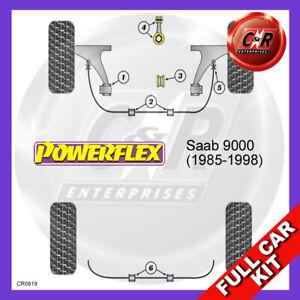 Saab 9000 (1994-1998) Manual gearbox Powerflex Complete Bush Kit