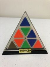 1980's Rubix Cube Pyramid Puzzler Puzzle Game w/ Case