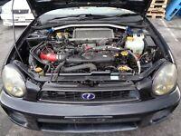 01-02 Subaru Impreza WRX Front Clip Turbo Engine Transmission & ECU JDM EJ205