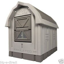 ASL Solutions Deluxe Large Insulated Dog House Palace with Floor Heater Pad Grey