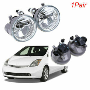 Pair Left+Right Front Light Fog Lamp Assembly+Bulb For Toyota Prius 2004-2009