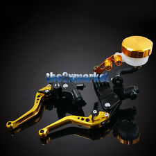Universal Master Gold Clutch Cylinder Brake Levers Set Reservoir Motorbike Parts