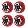 4pc HSP RGT RC 1/10 ROCK CRAWLER Pre Mounted Wheels & Tires 12mm Hex Red