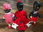 BULK LOT Collection of 4 x 1950s Vintage Black African Dolls