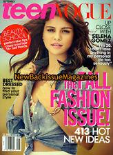 Teen Vogue 9/12,Selena Gomez,Fall Fashion Issue,September 2012,NEW