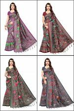 Mysore Silk Sari Saree S Animal Bird Floral Prints Casual Party Wear Festive Sty