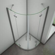 80x80 Duschkabine Viertelkreis Falttür Runddusche Duschabtrennung Glas Duschtür