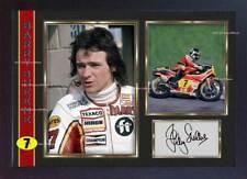Barry Sheene Signed autograph photo print Motor Sport Memorabilia Framed