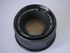 Yashica M42 Yashinon DX 1,7/50mm Objektiv lens M 42 Universalgewinde