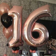 32 Inch Rose Gold 0-9 Number Foil Helium Balloons for Birthday Wedding Party New