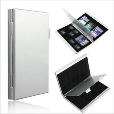 12 Slots Aluminum 8x TF 4x For SD Memory Card Storage Box Case Holder Protector