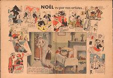 Caricature Politique Noël Sapin Jouet Soulier Cagoulard 1937 France ILLUSTRATION