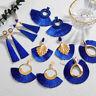 Boho Women Bohemian Long Tassel Fringe Boho Ear Stud Dangle Earrings Jewelry