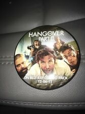 The Hangover Part 2 Promotional Movie Button/Pin Release Promo 12-06-2011