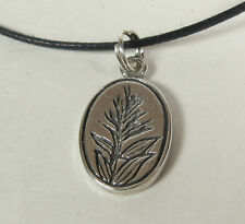 Indian Paint Brush Charm Pendant Necklace .925 Sterling Silver USA Made Plant