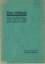 Irrenarzt Heinz Der Gifttod Skizzen aus meinem Leben 1935 Gerichtsarzt Gift