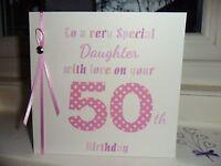 Handmade Personalised Birthday Card Mum Sister Daughter Nan Friend Auntie..etc