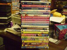 (22) Childrens Girls DVD Lot: (4) Disney Annie Anastasia Book Thief Bratz & MORE