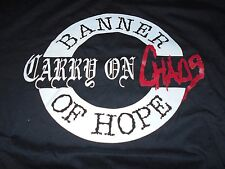 ORIG VINTAGE CARRY ON CHAOS BANNER OF HOPE T-Shirt XL NYHC HARDCORE PUNK INDIE