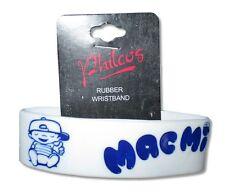 Mac Miller Blue Boy Logo White Rubber Wristband New Official Rap Hip-Hop