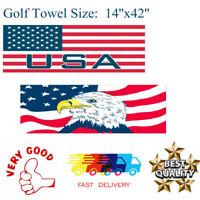 "Golf Jacquard Towels Club Cart 14"" x 42"" Cotton Microfiber Absorbent US Stock"