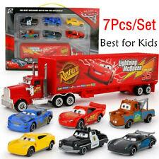 Cars 3 Lightning McQueen Racer Car&Mack Truck Kids Toys Xmas Gift Collection Set