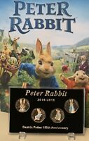 2016 - 2019 Display Case For Series PETER RABBIT 50p Coin (No Coins) + Stands
