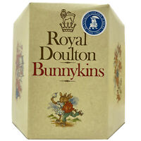 Vtg 1984 BUNNYKINS Childrens Plate Cup BABY SET Royal Doulton England NEW IN BOX