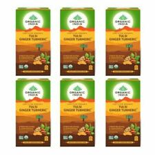 Pack of 6 Organic India Tulsi Ginger Turmeric Stress Relieving 25 Tea Bags