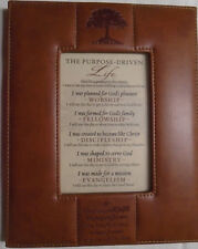 The Purpose Driven Life Framed Collectible Leather-Look Frame Rick Warren