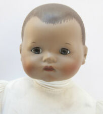 Vintage Bisque Baby Doll Brown Complexion Cloth Body 17""