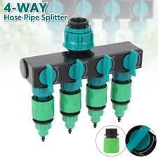 4 Way Tap Connector Garden Manifold Hose Pipe Splitter Adapter Water Faucet US