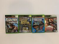Lot Of (4) Xbox Games Midway Arcade Treasures 3, Capcom Classics, Farcry Tested