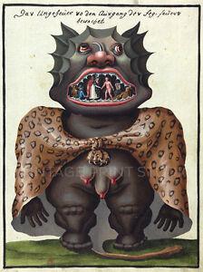 Demon Illustration 1775 Giclee Giclee Canvas Print 20x27