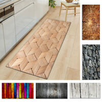 Floor Mat Area Rugs Non-slip Carpet Protector Grain Wood Pad Room Cover For Home