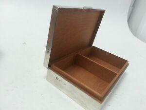 Hallmarked Sterling Silver Engraved  Cigarette Case/Box Garrard & Co Birmingham