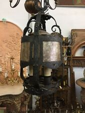 Spanish Revival Pendant Light With Mica