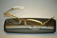 JEE VICE ANGEL KISS Gold White Metal Cat Eye Half Rimless Women's Eyeglasses