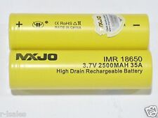 2 pc MXJO IMR 18650 Li-MN BATTERY 3.7v 2500mAh 35A w/ TRUSTFIRE TR-001 CHARGER