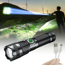 Rechargeable 1000000 Lumens Xhp70 most Powerful LED Flashlight USB Zoom Torch US