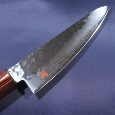 Japanese Small Santoku Knife ISEYA Hammered Damascus VG10 135mm Made in Japan
