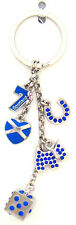 Scottish Lucky Charms Saltire Heart Scottie Dog Scotland Bag Purse Keyring Charm