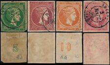 GREECE, SCARCE LOT OF 4 DIFF. USED LARGE HERMES HEADS. #A85