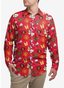 Manchester United Man Utd Long Sleeve Christmas Shirt Xmas MUFC Novelty L-XXL