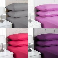 100% Egyptian Cotton Fitted Sheets,ALL SIZES,Good Quality,Matching Pillows