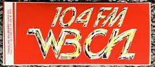 Wbcn The Rock Of Boston Radio Station Bumper Sticker Very Rare Red New Mint