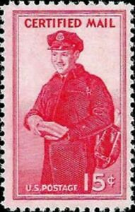 1955 Certified Mail MNH Stamp from USA