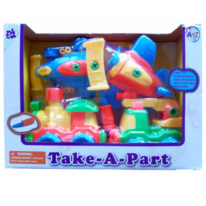 Take Apart Vehicles Race Car Train Plane Fire Truck with Tool Kids Toys NEW