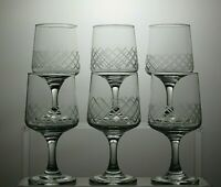 VINTAGE CRYSTAL SHERRY OR PORT/SMALL WINE GLASSES SET OF 6