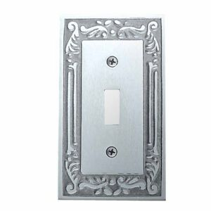 Victorian Switch Plate Single Toggle Chrome Solid Brass | Renovator's Supply